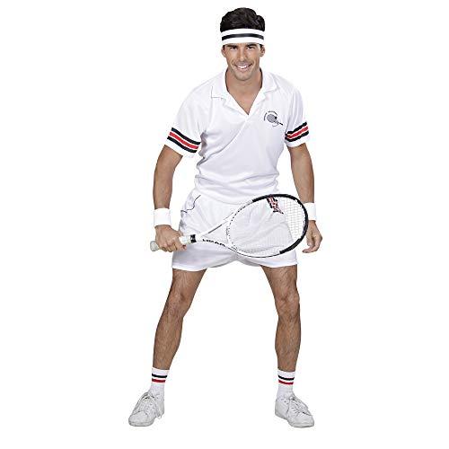 Widmann WDM01632 11000238 Erwachsenenkostüm Tennis Player, Herren, Weiß, M