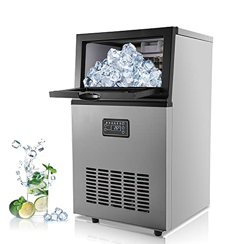 Vogvigo Commercial Ice Maker,100LBS/24H,30LBS Storage Capacity,36 Ice Cubes Ready within 20 Mins Stainless Steel Freestanding Ice Machine for Home/Office/Restaurant/Bar/Coffee Shop,Shipping from US