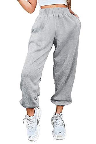 OEAK Jogginghose Damen Sporthose Freizeithose Traininghose High Waist Sports Pants Bequem Baumwolle Sweathose für Jogging Laufen Fitness