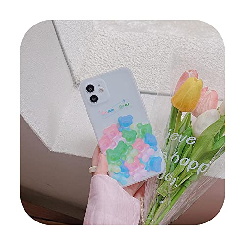 Nueva linda margarita mariposa teléfono caso para el iPhone 12 11 Pro Max XS XR X 7 8 Plus mate transparente impresión lateral cubierta suave Shell-Pink-Para iPhone X XS