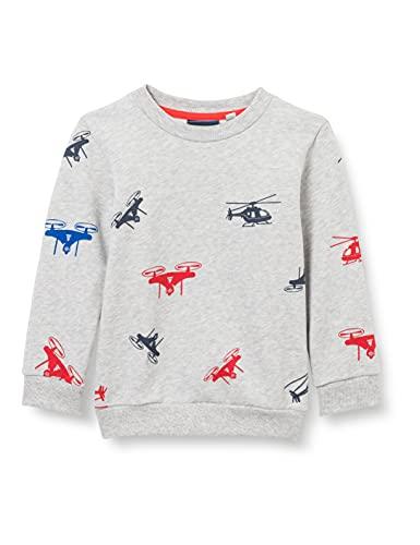Sanetta Sweatshirt Grau Maglia di Tuta, Metallic Mel, 128 cm Bambino