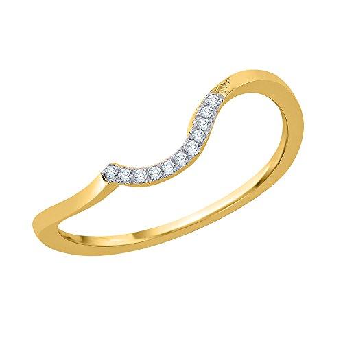 Katarina 14 quilates oro amarillo redonda J-K Diamond