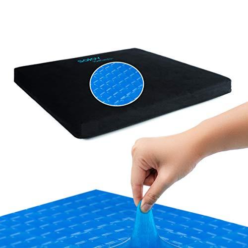 Sojoy igelcomfort Enhanced Gel Multi Gel Sitzkissen mit Memory Foam Silikon Anti-Rutsch