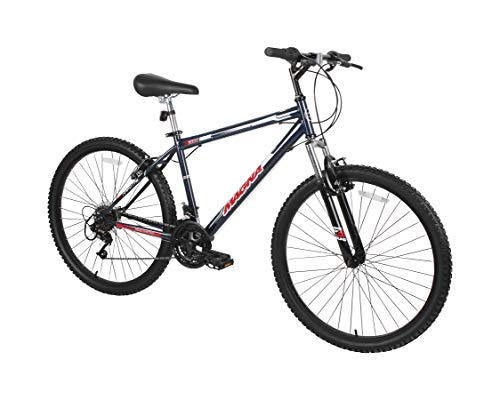 Dynacraft Magna Front Shock Mountain Bike Mens 26 Inch Wheels with 18 Speed Grip Shiteres and Dual Hand Brakes In Black