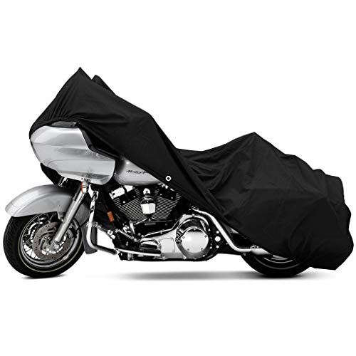 North East Harbor Motorcycle Bike Cover Travel Dust Storage Cover Compatible with Harley Davidson Dyna Glide Fat Bob Street Bob -  KapscoMoto, MC-BLA-XXL-V02