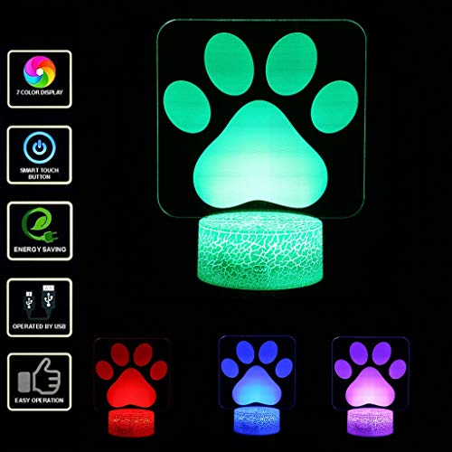 Only 1 Piece LED 3D Night Light P Decorative 3D Visual Lamp Optical Illusion Desk Lighting Color Changing 3D Light Fixtures for Kids Gift