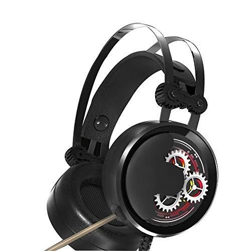 Ryyland-Home Casque de Jeu Gaming Casques d'écoute 7.1 Son Surround USB Conception Ergonomique Convient for Ordinateur Professionnel Casques d'écoute de Jeu Poids léger (Color : Black, Size : M)