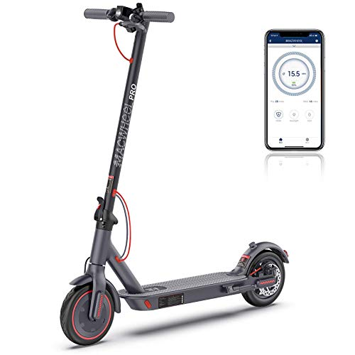 Macwheel MX PRO Electric Scooter, 360Wh 36V/10Ah, Up to 25miles Long Range Battery, Max Speed 15.5mph, Easy Fold and Carry Design, Adult Electric Scooter for Commute and Travel