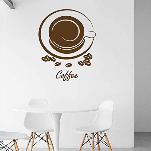 Tianpengyuanshuai koffiemok muursticker koffiebonen aroma koffie keuken restaurant design decoratie vinyl muur sticker venster sticker