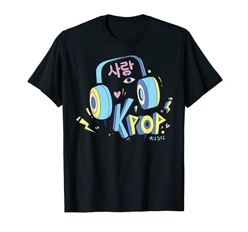 Auriculares Musical de Kpop Korea, Merch de Chicas, Pastel Camiseta