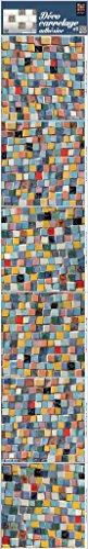 PLAGE 260554Smooth–Tiles Adesivo per mattonelle Mosaico, 6Foglio, Vinile, Multicolore, 15x 0,1x 15cm
