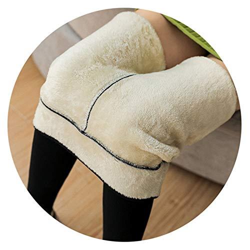Damen Fleece Gefüttert Leggings Normallack Warme Kaschmir Hosen Baumwollhose, Frauen Thermo Strumpfhose Blickdichte Leggins