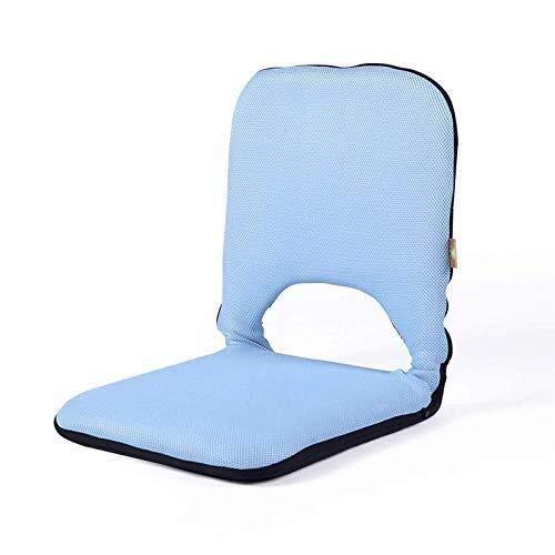Zichen Klappstuhl Weich verdicken Sie Tatami Stuhl, Faltbarer japanischer Fußboden-Stuhl Zaisu-D (Color : A)