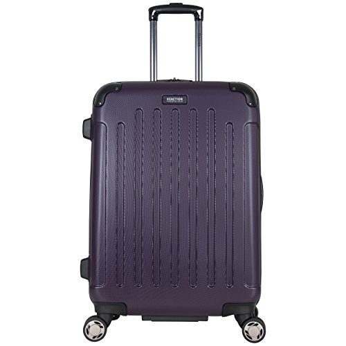 """Kenneth Cole Reaction Renegade 24"""" Lightweight Hardside Expandable 8-Wheel Spinner Checked-Size Luggage, Deep Purple, inch"""