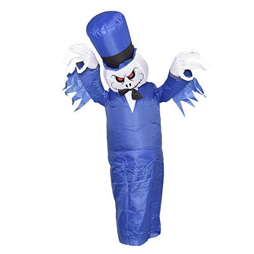 jinclonder Aufblasbarer Anzug Halloween Party Kleidung Set, Call of Duty Ghost Mask Lustiges Festkostüm , Kinder/Erwachsene Gruselige Kostüme Halloween Anzüge