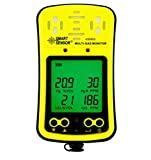 Digital Multi Gas Monitor Tester Handheld LCD Screen Backlight Rechargeable Li-Battery Powered Sound Light Alarm 4 in 1 Gas Meter Detector Analyzer