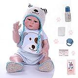 ZIYIUI 20 Pulgadas Reborn Bebé Muñecas Silicona de Cuerpo Completo Recién Nacido Hecho a Mano Reborn Doll Ojos Abiertos Niño Magnético (50 cm )