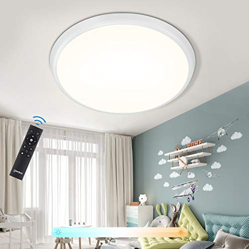 LED Deckenleuchte Dimmbar, Oeegoo 36W LED Deckenlampe mit Fernbedienung, 4000LM LED Schlafzimmerlampe, IP54 LED Leuchte für Bad Esszimmer Wohnzimmer Kinderzimmer