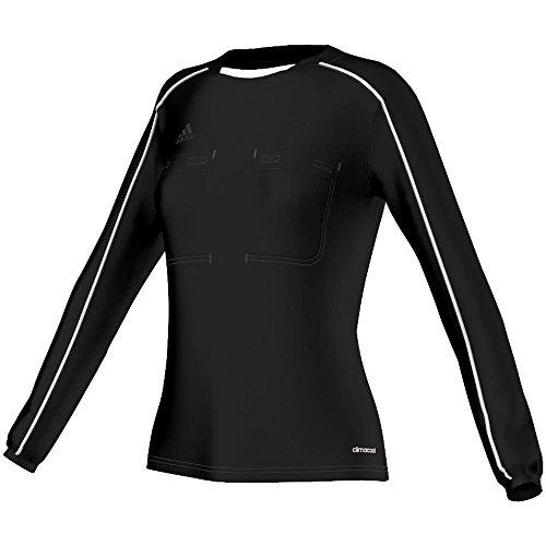 adidas Damen Referee 16 Women Jersey LS Schiedsrichtertrikot, Black/White, M