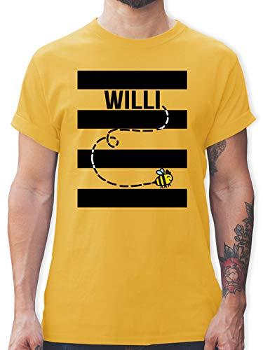 Karneval & Fasching - Bienen Kostüm Willi - M - Gelb - willi t-Shirt - L190 - Tshirt Herren und Männer T-Shirts