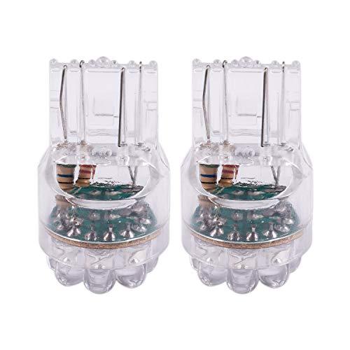 Gesh 2 bombillas blancas T20 7443 7440 7 440 con 9 luces LED de freno, intermitentes, 12 V