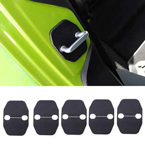 Voodonala Door Lock Covers Protection Trim for 2007-2019 Jeep Wrangler JK JKU Grand Cherokee Chrysler 5PCS