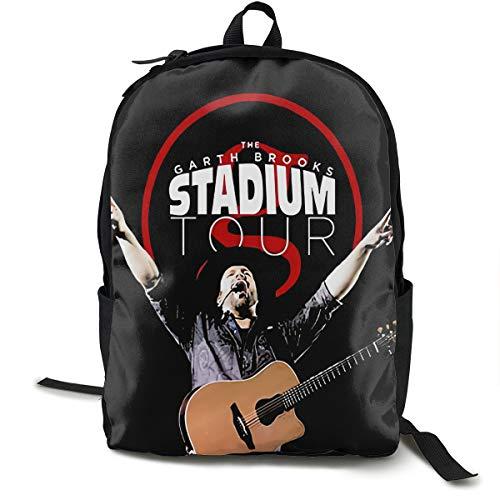 N / A Garth Brooks The Stadium Arin Tour 2019 Paquete clásico mochila escolar bolsa negra viaje de poliéster unisex escuela