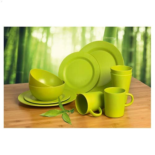 Camp 4 Bambus Geschirr-Set LUGO Lime,...
