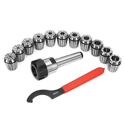 Vástago MT3-ER32-1 piezas de alta precisión MT3-ER32 herramienta de vástago del cortador de fresado + 11 piezas portabrocas ER32