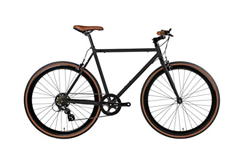 Fyxation Black and Tan Pixel 7 Bicycle, 58