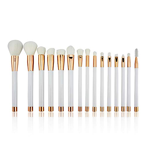 MPKHNM Fifteen Beauty Tools Makeup Brush Set Brush 15 Makeup Brush White