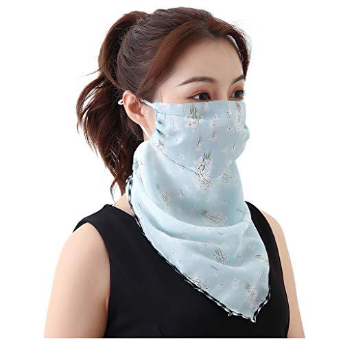 Innerternet Damen Mundschutz Halstuch Sommer UV-Schutz Atmungsakti Chiffon Tuch nahtloses Schlauchtuch, Halstuch, Schal, Kopftuch, Stirnband, Unisex, für 10 Tragevarianten
