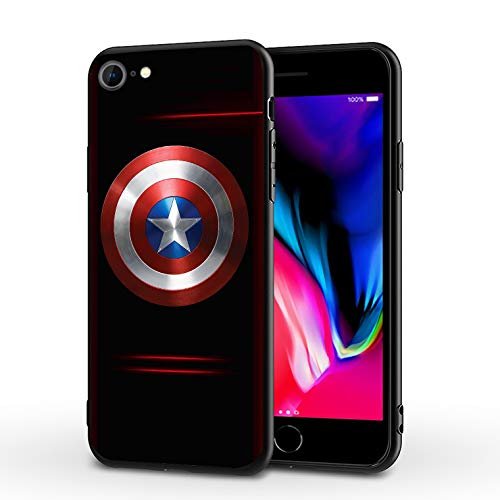 PUTEE Comics iPhone 7 Case iPhone 8 Case iPhone SE 2020 Case Full Body Protection Cover Cases (Captain-America, iPhone 7/8/SE2)