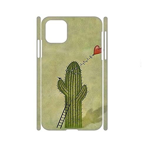 Desconocido Compatible para Apple 6.7Inch iPhone 12 Pro MAX Encantador Niña Cajas De Plástico Impresión Cactus