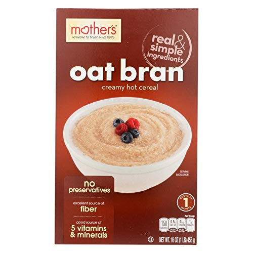 Mothers Cereal Hot Oat Bran 16 OZ Pack of 6