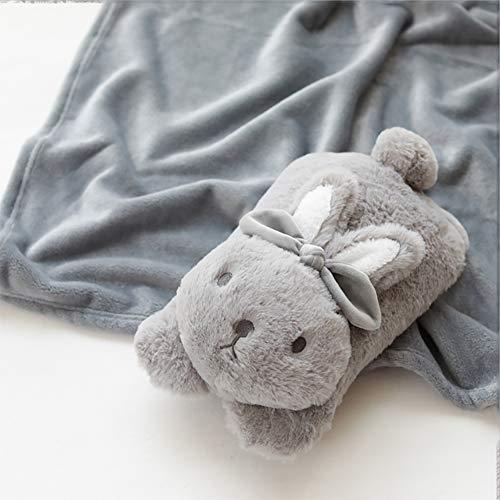 Karikatur-Kaninchen-PlüSch-Spielzeug, Kissen Blanket Combo, Imitation Kaninchenfell + Crystal Super Soft Short PlüSch, PP Baumwolle FüLlung, Geeignet FüR Nap Verwenden