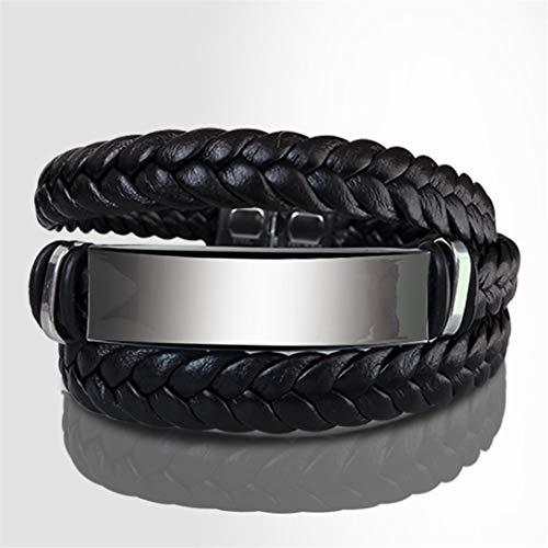 FWQW Mehrschichtiges verstellbares, gewebtes, geflochtenes Armreif-Kreuzarmband aus Handgelenkmanschette