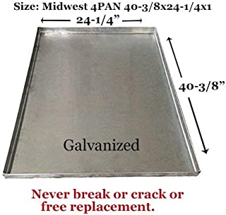 Replacement Tray for Dog Crate – Chew-Proof, Crack Proof, Durable Metal Dog Crate Pan - Galvanized Pet Kennel Tray - Replacement Tray for Midwest Central Metal Crates - 42inch - by Pinnacle Woodcraft