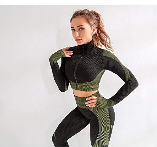 Pantalon Yoga Sin Costuras Conjunto De 2 Piezas De Yoga Sin Costuras Push Up Leggings Y Sujetador Superior Conjunto De Gimnasio Ropa Conjunto De Entrenamiento Físico Mujer Ropa Deportiva Chándal-