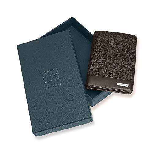 [モレスキン]長財布レザーパスポート収納小銭入れET94CMWPABKクラシックマッチパスポートウォレットウッドブラウン