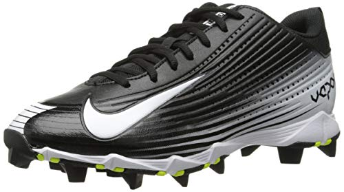 New Nike Mens Vapor Keystone 2 Low Baseball Cleat Black/White 8