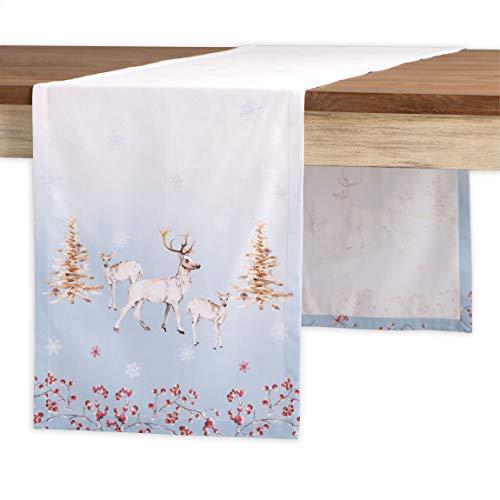 Maison d' Hermine Fairytale Forest Tischläufer aus 100% Baumwolle für Partys   Abendessen   Feiertage   Küche   Thanksgiving/Weihnachten (50 cm x 150 cm)