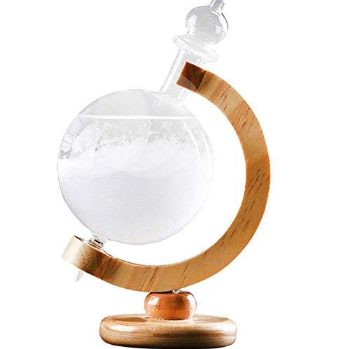 Moderne Wohnaccessoires Glas Handwerk Ornamente Globus Rotierenden Wettervorhersage Flasche Sturm Flasche Dekoration Für Büro Wohnzimmer Bar Cafe