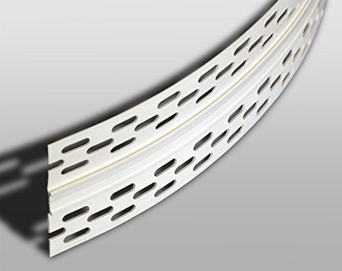 Trockenbauprofile Bewegungsfugenprofil für den Trockenbau, 25 Meter, PVC weiß Weiß 2500