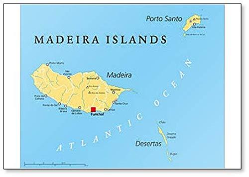 Madeira Islands Politieke Kaart Klassieke Koelkast Magneet