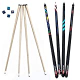 ProSniper Pool Cues   Set of 4 Pool Cue Sticks Made of Canadian Maple Wood   Extra 4 Pool Chalk Included   Unique Design and Durable Cue Stick for Professional Billiard Players