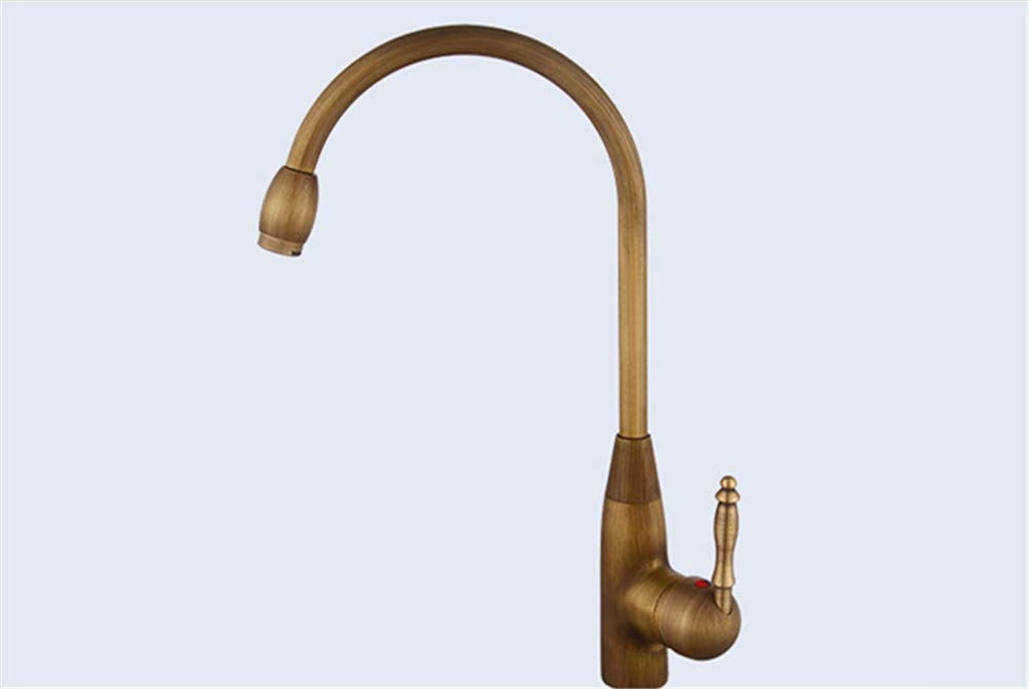Copper antique basin faucet hot and cold water lengthening single hole single handle
