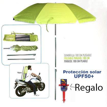 Pincho Sombrilla Mochila Plegable 180CM Ideal para Moto y Bicicleta.