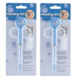 OUOU Pet Pill Dispenser, [2 Pack] Dogs and Cats Medicine Feeder Tool Kit Silicone Syringes for Cats Dogs Small Animals - Super Durable and Reusable Extremely Convenient (Blue)