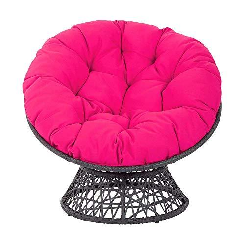 Columpio Colgante Silla Cojín Cojín para silla Papasan de ratán grueso con mullido, columpio redondo de algodón de color sólido, cojín de asiento para cesta colgante para interior, exterior, jardín,